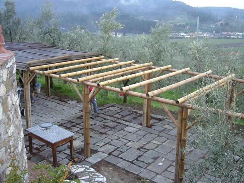 007 struttura in bamb talini talini bamb for Pergolato con canne di bambu