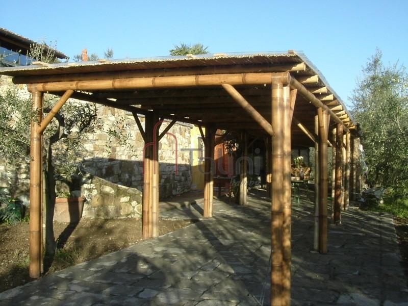 Casette Giardino Vetro : Struttura in bambù talini